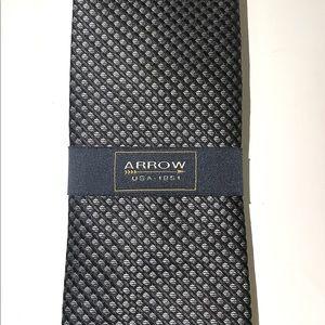 Arrow Black and Grey Tie